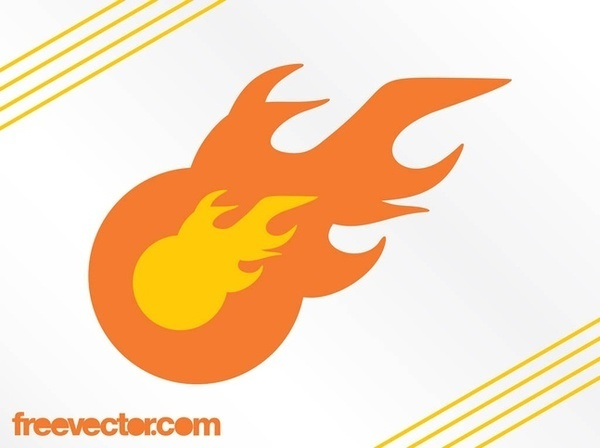 Flame Logo Template Free Vector