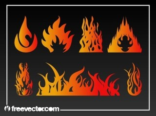 Flames Free Vector