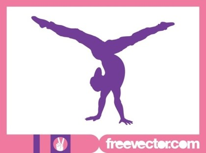 Flexible Girl Silhouette Free Vector