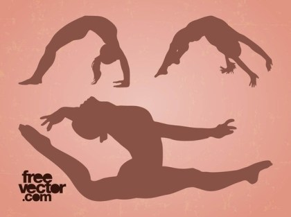 Flexible Girls Free Vector