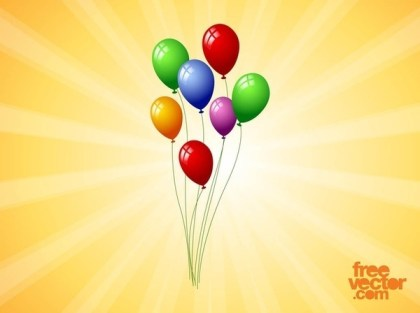 Floating Balloons Free Vector