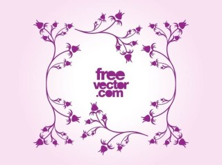 Floral Frame Two Free Vector