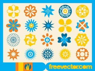 Flower Icons Free Vector