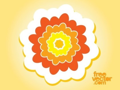 Flower Sticker Art Free Vector