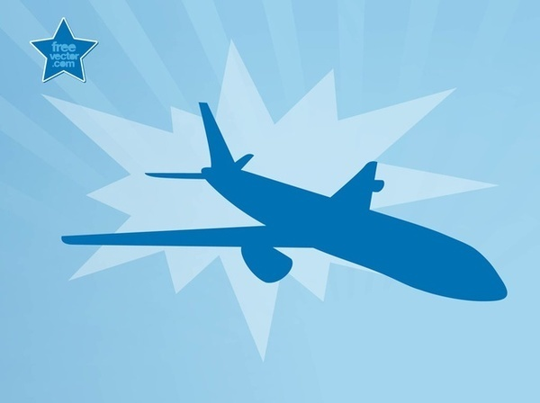 Flying Airplane Free Vector