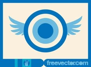 Flying Circles Free Vector