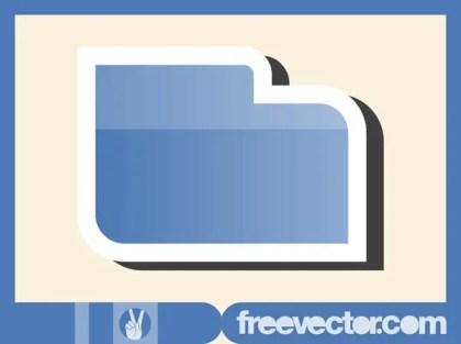 Folder Sticker Free Vector