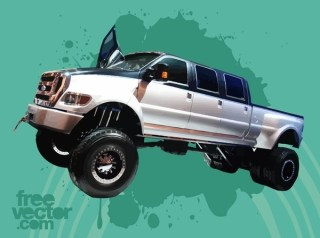 Ford F650 Super Duty Truck Free Vector