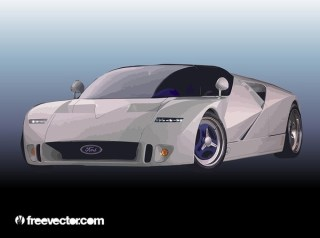 Ford Race Car Free Vector