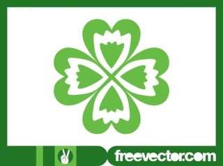 Four-Leaf Clover Free Vector