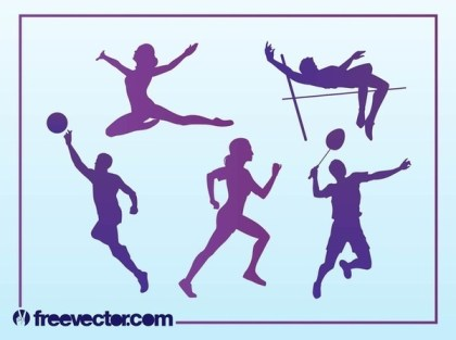 Free Sport Silhouettes Free Vector