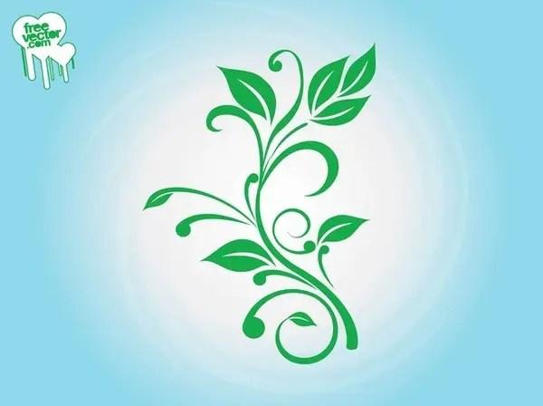 Fresh Plant Silhouette Free Vector
