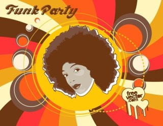 Funk Party Flyer Free Vector