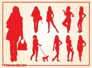 Girls Silhouettes s Free Vector