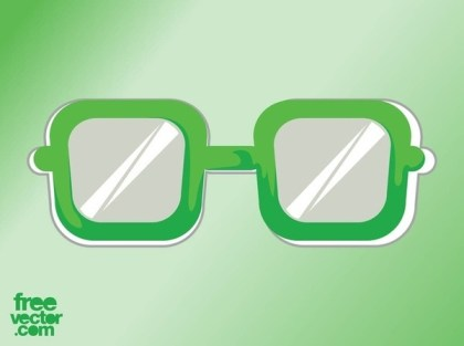 Glasses Sticker Free Vector