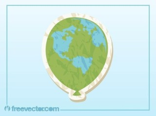 Globe Balloon Free Vector