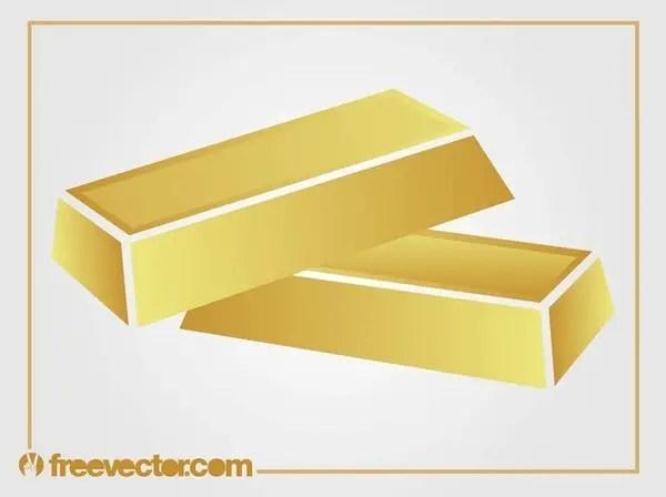 Gold Bars Free Vector
