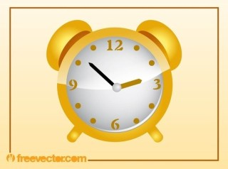Golden Clock Free Vector