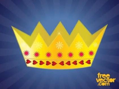Golden Crown Design Free Vector