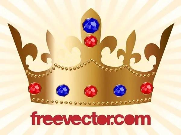 Golden Crown Free Vector