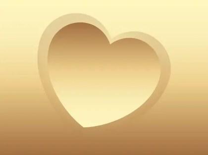 Golden Heart Free Vector