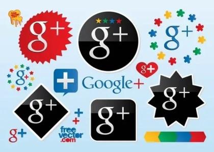 Google Plus Logos Free Vector