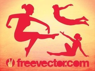 Graceful Girls Free Vector