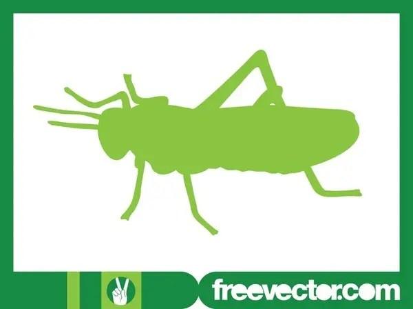 Grasshopper Silhouette Free Vector