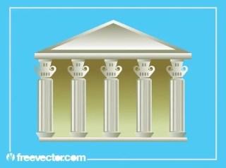 Greek Building Free Vector