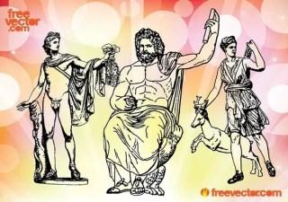 Greek Gods Free Vector