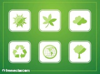 Green Buttons Free Vector