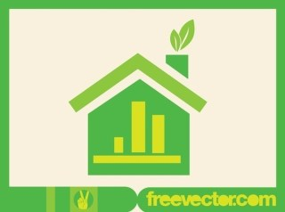 Green Home Icon Free Vector