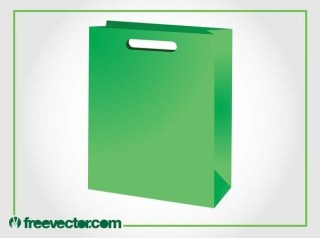 Green Paper Bag Free Vector