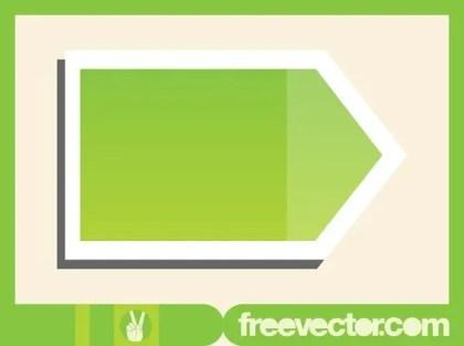 Green Pointer Sticker Free Vector