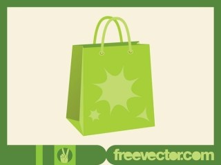 Green Shopping Bag Free Vector