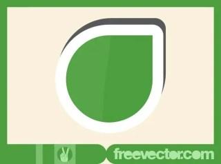 Green Sticker Free Vector