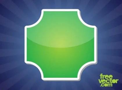 Green Sticker Template Free Vector