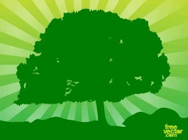 Green Tree Free Vector