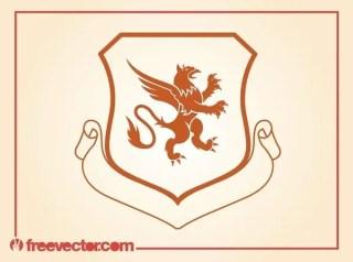 Griffin Emblem Free Vector