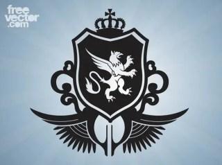 Griffon Crest Free Vector