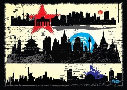 Grunge City Free Vector