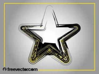 Grunge Star Image Free Vector
