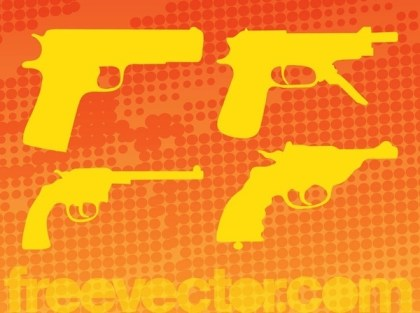 Guns Pack Free Vector