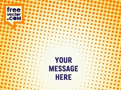 Halftone Poster Template Free Vector