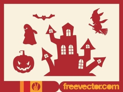 Halloween Silhouettes Free Vector