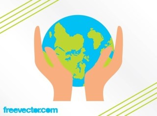 Hands Holding Earth Free Vector