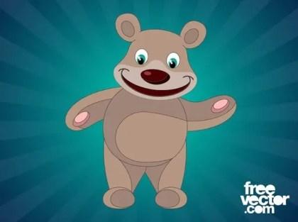 Happy Cartoon Bear Free Vector