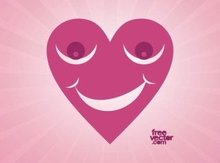 Happy Heart Free Vector