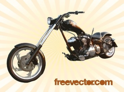 Harley Chopper Free Vector