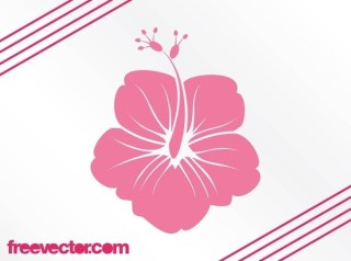 Hawaiian Flower Silhouette Free Vector